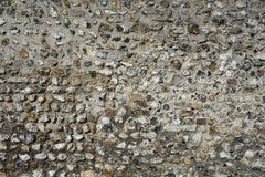 English flint stone wall Royalty Free Stock Photo