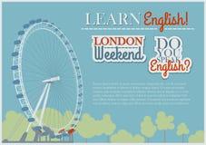 English Flyer Template Stock Photo