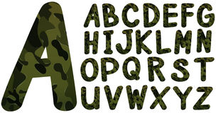 English font design with military theme Stock Image