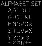English font freehand alphabet pencil sketch Royalty Free Stock Images