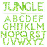 English font in Jungle style swirl Royalty Free Stock Images
