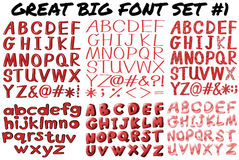 English fonts in red bold Royalty Free Stock Photos