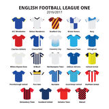 English Football League One jerseys 2016 - 2017  icons set Stock Image