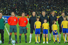 English football team with children Stock Images