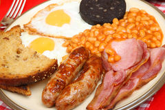English Fried Breakfast Royalty Free Stock Images