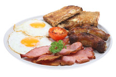 English Fried Breakfast Royalty Free Stock Photo