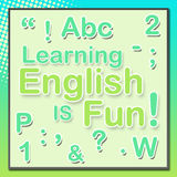 English is Fun Turquoise Green Stock Images
