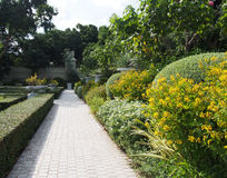 English garden. With Granite block flooring Royalty Free Stock Photo