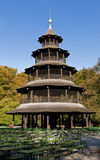 English garden, munich. The Chinese Tower in Munich's english garden royalty free stock photography