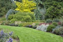 English garden path. General view, Norfolk, UK, September 2010 Stock Photo