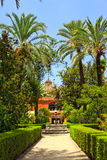 English gardens in Alcazar Royalty Free Stock Photography