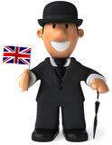 English gentleman. With a bowler hat, 3d generated picture Royalty Free Stock Photo