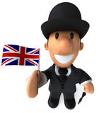 English gentleman. With a bowler hat, 3d generated picture Royalty Free Stock Images