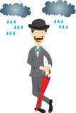 English gentleman with umbrella. Royalty Free Stock Images