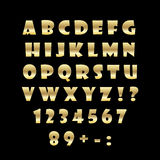 English golden alphabet on a black background Stock Photo