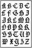 English Gothic Capitals, 16th Century. English Gothic Capitals alphabet, 16th Century Stock Photo