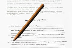English Grammer Test Royalty Free Stock Photography