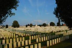 English graves at Tynecote cemetery, Belgium Stock Image