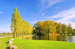 English Grounds of Woerlitz lake Royalty Free Stock Image