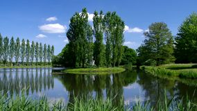 English Grounds of Woerlitz Rousseau island stock video footage