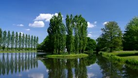 English Grounds of Woerlitz Rousseau island stock footage
