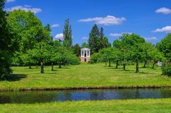 English Grounds of Woerlitz Temple of Flora Royalty Free Stock Photo