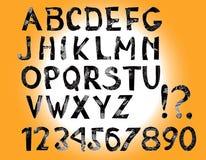 English Hand Drawn Alphabet Stock Photos