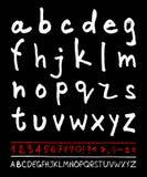 English handwriting alphabet Stock Photos