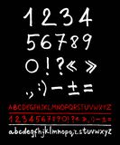 English handwriting alphabet Stock Photography