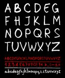 English handwriting alphabet Royalty Free Stock Photography