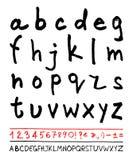 English handwriting alphabet Stock Photo