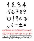 English handwriting alphabet Royalty Free Stock Images