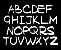 English handwriting alphabet. figures Stock Photography