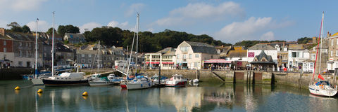 English harbour Padstow North Cornwall England UK beautiful late summer sun and calm fine weather Stock Image