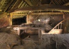 English hay barn interior Royalty Free Stock Image