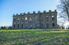 Sutton Scarsdale Hall, Georgian ruin in chesterfield, Derbyshire, England. English Heritage looks after Sutton Scarsdale Hall, Georgian ruin in chesterfield Royalty Free Stock Photos