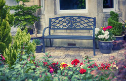 English home bench Royalty Free Stock Photography
