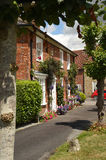 English home on the village green. Royalty Free Stock Images