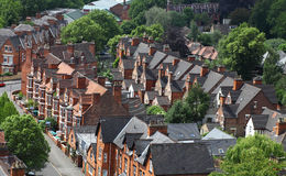 English Homes, Nottingham. Nottingham -  showing buildings and houses Royalty Free Stock Image
