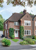 English house. Front of a British home in a London suburb of England, UK Stock Photos