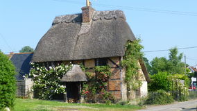 English house. English traditional  in south england with straw roof in a sunny day Royalty Free Stock Photography