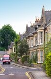 English houses. Typical English houses (Cambridge, England Royalty Free Stock Image