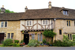 English houses. Typical English style houses in the Cotswold village of Castle Combe Stock Images