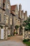 English Houses in Canterbury stock photo