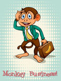 English idiom monkey business Stock Image
