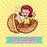 English idiom in a nutshell Stock Image