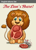 English idiom showing a lion Stock Images