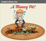 English idiom showing the wealth at the pit Royalty Free Stock Photography