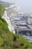 English infrastructure and white cliffs Royalty Free Stock Image