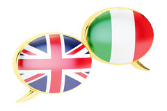 English Italian translation concept 3D rendering Stock Photo
